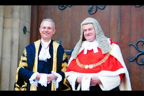 Lord chancelllor and Sir Ian Burnett